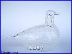 Oiva Toikka bird Mediator Dove glass design Birds by Toikka Iittala Finland NEW