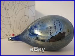 Oiva Toikka bird Night Tern special glass design Nuutajärvi Iittala Finland, BOX