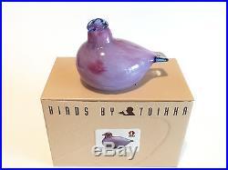 Oiva Toikka bird Partridge art glass design Birds by Toikka Iittala Finland BOX