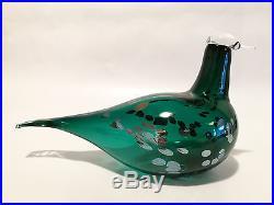 Oiva Toikka bird Pekkasiini green glass design Birds by Toikka Iittala Finland