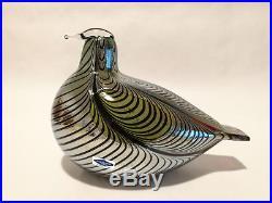 Oiva Toikka bird Pheasant Art glass Design Birds by Toikka Iittala Finland