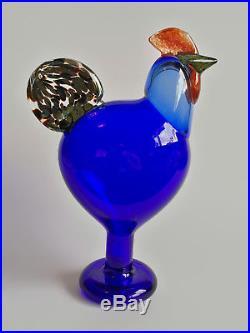 Oiva Toikka bird Rooster Art glass design Birds by Toikka Iittala Finland