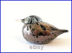 Oiva Toikka bird Small Goldcrest glass design Birds by Toikka Iittala Finland #3