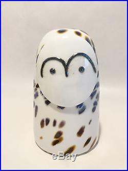 Oiva Toikka bird Snow Owl glass design Birds by Toikka Iittala Finland NEW