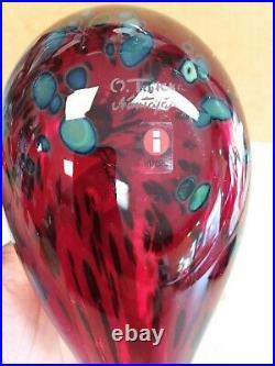 Oiva Toikka glass bird RUBY BIRD RED dark deep color littala Nuutajärvi Finland