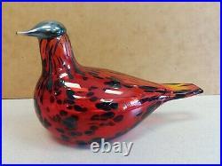 Oiva Toikka glass bird RUBY BIRD RED littala Nuutajärvi Finland