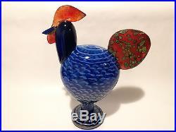 Oiva Toikka glass bird big blue KAIKU design Birds by Toikka Iittala Finland