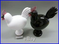Oiva Toikka iittala Roosters Black & White bird set