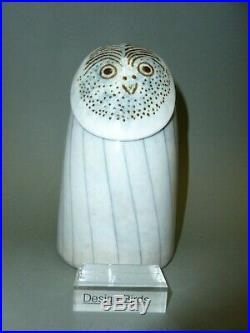 Oiva Toikka iittala Rough leg Owl Stockmann Finland bird