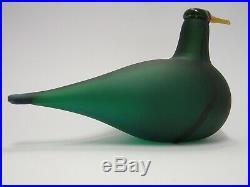 Oiva Toikka iittala green Lapwing MATT very rare bird
