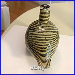 Older beautiful striped Oiva Toikka glass bird Finland Iittala handmade