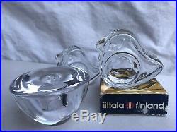 Pair Iittala Finland Tiu Egg Cups Jorma Vennola + Orrefors Sweden Candle Holder
