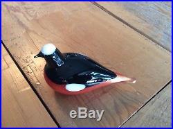 RARE High Gloss Oiva Toikka Nuutajärvi Iittala Mountain Redstart Glass Bird
