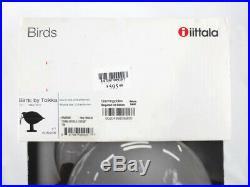 RARE Iittala Black Ibis Bird by Toikka Signed Art Glass Sculpture Figuruine Box