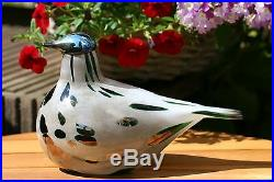 RARE Iittala OIVA TOIKKA Art Glass Bird Sumusirri Limited Edition (200pcs) NIB
