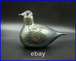 RARE Vintage Iittala Glass Bird by Oiva Toikka, Signed Nuutajarvi Vintage Long