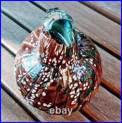 Rare Limited Edition Iittala Oiva Toikka Moss Grouse Glass Bird