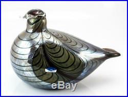 Rare Nordic Iittala bird figurine Oiva Toikka