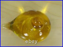 Rare Oiva Toikka Iittala Nuutajärvi 1793 Yellow Glass Bird Finland 3 1/2 long