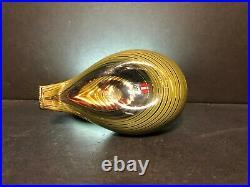 Rare Vintage Oiva Toikka Nuutajarvi Iittala Finland Mouth Blown Art Glass Bird