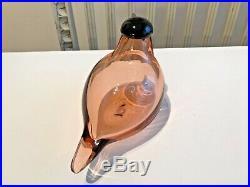 Rare beautiful Chiffchaff glass bird Oiva Toikka Nuutajärvi Iittala y. 2002-2003