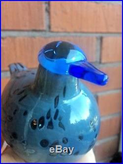 Rare blue head Eurasian Wigeon Lammihaapana glass bird Oiva Toikka Nuutajärvi