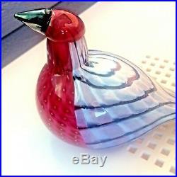 Redpoll Finnfest beauty Oiva Toikka Nuutajärvi Finland Iittala glass bird