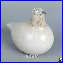 Signed Iittala Oiva Toika Nuutajarvi Art Glass Bird Willow Grouse Riekko GL