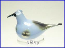 Signed Oiva Toikka Nuutajarvi Art Glass Bird Blue Sky Curlew Iittala Finland