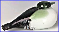 Signed Oiva Toikka Nuutajarvi Iittala Finland Blown Art Glass Bird Sculpture