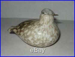 Signed Oiva Toikka iittala Nuutajärvi Art Glass Finland Bird Figurine