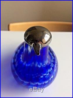 Sinikyyhky Jorvin hospital glass bird Oiva Toikka Nuutajärvi rare blue beauty