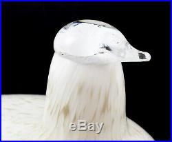 Stunning Oiva Toikka Nuutajarvi Littala Finland Art Glass Willow Grouse Bird