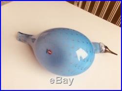Stunning bird blue controled bubbles grebe nr 4/200! Oiva Toikka Nuutajärvi