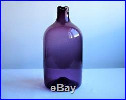 Timo Sarpaneva Purple Glass Bird Bottle, Iittala Lintupullo Amethyst Carafe