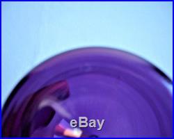 Timo Sarpaneva Purple Glass Bird Bottle, Iittala Lintupullo Amethyst Pitcher