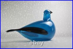 Toikka Indigo Bunting Sirkku bird Design Glass Art Iittala Finland (NEW)