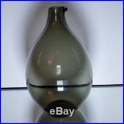 VINTAGE Timo Sarpaneva iittala Finland Bird Beak Glass Vase Mid Century Signed