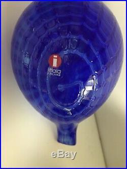 Vintage 1992 Toikka Iittala Finland Art Glass BlueBird Figurine Signed Toikka
