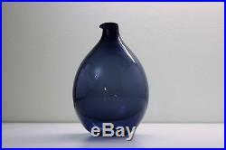 Vintage Bird Bottle decanter, Timo Sarpaneva, Iittala Finland glass art design
