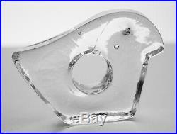 Vintage IITTALA Finland MODERNIST Art Glass Bird MIDCENTURY MODERN Retro Finnish
