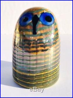 Vintage IITTALA OIVA TOIKKA Nuutajärvi Finland Design Studio Art Glass OWL Bird