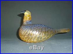 Vintage Iittala Nuutajarvi Oiva Toikka Art Glass Bird Karelian Golden Cuckoo