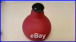 Vintage Iittala OIVA TOIKKA Art Glass Bird Bullfinch Finnish