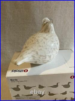 Vintage Oiva Toikka iittala Nuutajarvi Willow Grouse Art Glass Birds Finland