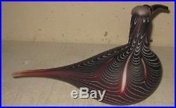 Vintage Original Iittala OIVA TOIKKA Finland ART GLASS Bird Curlew Kuovi -SIGNED