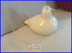 Vintage Signed Oiva Toikka Iittala Blown Glass Bird Ptarmigan Willow Grouse