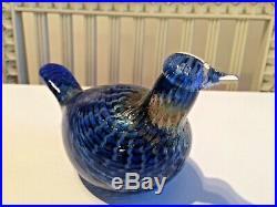 Wonderful rare sinikäkönen, blue cuokoo glass bird! Oiva Toikka Nuutajärvi
